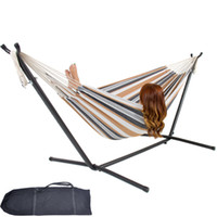 Wholesale Steel Stand Includes Portable Carrying Case Double Hammock