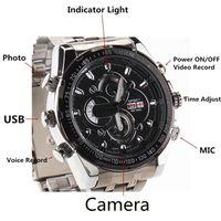 Mini grabador de vídeo resistente al agua España-8 GB Mini impermeable reloj encubierta DVR 1920 * 1080P HD Noche IR cámara de visión grabador de vídeo Mini DV Cam portátil