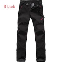 Wholesale Spring thin section Womens Monolayer Sports Pants Black Casual trousers WaterProof Climbing Outdoor Pants Fleece inside