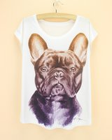 bell western - discount sale new summer woman cloth big french bulldog pattern t shirt western fashion novelty women s plus size tshirt