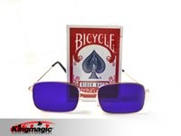 bicycle marked cards - Best Selling Bicycle Invisible Marked Cards Free Marked Cards Glasses Poker Cheat Gamble Cheat Magic Tricks