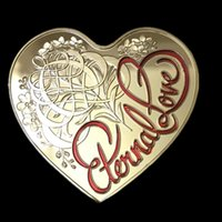 australian gifts souvenirs - 10 Non magnetic The Australian Eternal love heart shaped Elizabeth gold plated souvenir coin gift