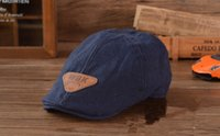 beret comfortable cotton - 2014 New baby boy berets child girl beanies cap Solid color Summer cool and comfortable logo hat