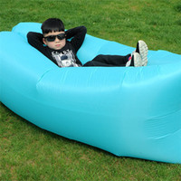 Wholesale inflatable air lounge sleep bag hangout inflatable sleeping bag Newest Design Nylon Inflating Airsofa cheap price inflatable air sleeping