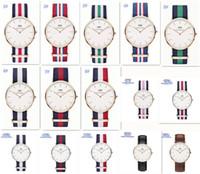 Wholesale fashion Color Top Brand Daniel Wellington Watch Luxury Style DW Watches Men women Nylon Strap Military Quartz Wristwatch Reloj D959