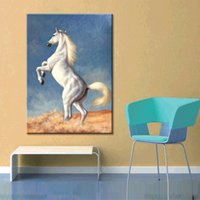 Wholesale High quality hand painted realistic animal decoration painting contracted home sitting room office The horse