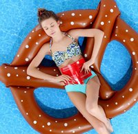 bagel bread - Air Inflated Cookies Bagel Swimming Pool toys Bread Swimming Ring PVC Inflatable Pool Float Donut Pool Inflatable Floats Pool toys