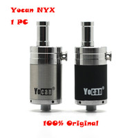 Wholesale Yocan NYX Atomizers Wax Tank Vaporizer With Quartz Dual Coil Fit Thread W W Box Mod Yocan Evolve Plus