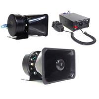 pa speaker - 100W V Loud Speaker PA Horn Siren System Mic Kit Police Car Fire Truck DHL WM097