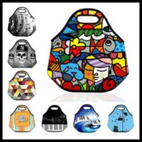 adults lunch bag - Waterproof Lunch Bag Insulated Neoprene Picnic Bag Elephant Cooler Bag Meal Bag Outdoor Necessary Food Storage Kids Adult Back to School