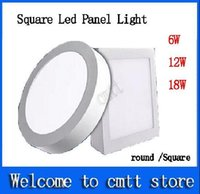 Wholesale AC85 V W W W Round Square Led Panel Light Surface Mounted Downlight lighting Led ceiling down