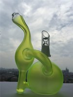 beautiful stained glass - Fluorescent Green Bong Oil Rigs Beautiful Stained Glass Bongs Thick Glass Water Pipes Recycler Glass Bong mm Joint