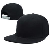 Precio de Sombreros casual para los hombres-Los nuevos sombreros llanos en blanco del Snapback del negro 2016 para el casquillo de Hip Hop de las mujeres de los hombres ajustable Bboy