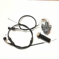 Wholesale NEW PW50 Part Carburetor Throttle Choke cables and Throttle Grip fit Yamaha PW50 Loncin Jianshe PY50