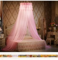 beds canopy - Romantic Round Mosquito Net Soft Tulle Bed Curtain Netting Canopy Elegant Summer Hot Selling Princess Round Dome Bedding Net Mosquito Net