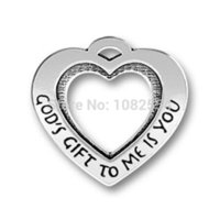 antique jewelry display case - New Design Antique Silver quot God s Gift To Me Is You quot Heart Message Charms Jewelry jewelry display case lock