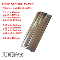 Wholesale 100Pcs Thickness mm mm mm Pure Nickel Strip for Battery spot welding machine