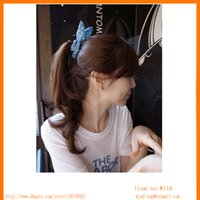 al por mayor china banda de goma-Los accesorios libres del pelo del envío emparedan las vendas elásticos del pelo de las vendas elásticos simples del estilo que envían libremente del diseño colorido de China W116