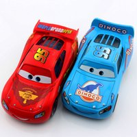 Wholesale 2pcs set Mini kids cars toy mcqueen race cars cute No race car pixar alloy metal racing cars diecast models toys gifts for children