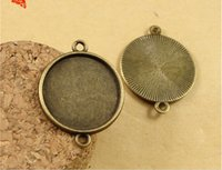 Wholesale A1230 Fit MM MM MM MM MM MM round metal stamping blanks cameo cabochon setting ANTIQUE BRONZE pendant blank bezel tray