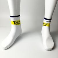 bank socks - Pairs team saxo bank cycling Socks quick dry white thinoff pro sports socks with coolmax