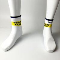 Wholesale Pairs team saxo bank cycling Socks quick dry white thinkoff socks sports with coolmax