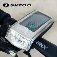Wholesale Headlight power USB solar charging flashlight tail mountain bike riding equipment accessories