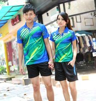 Wholesale Breathable quick drying Table tennis Jersey Table tennis shirts Badminton sweatshirt yellow blue red M XL