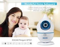 Wholesale ESCAM Penguin QF521 HD Recording IR cut P2P Audible Alarm Day Night Real Time Two way Audio Cartoon Design Smart Baby Monitor