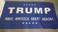 Wholesale 100pcs cm Donald Trump x5 Foot Flag Make America Great Again Donald for President USA
