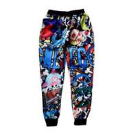 baggy pants cartoons - Men Women Pants Cartoon Sweatpant Hip Hop Pocket Trousers Brand Harajuku D Print Cheap Male Urban Clothing China Baggy