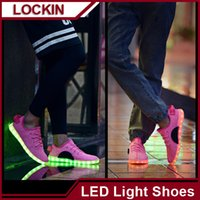 Cheap Luminous LED Colorful lights Led shoes male USB charging emitting fluorescent couple shoes casual shoes wholesale