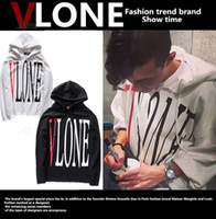 Wholesale VLONE REVERSIBLE T SHIRTS LA POP UP letter hoodie sweatshirt