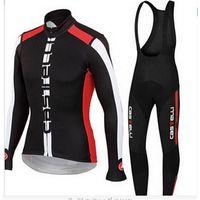 Prezzi Kit e bike-Castellii Cycling Jersey Imposta camicie nere lunghe escursioni in bicicletta e rosso Bavaglino con 3D imbottito bici vestiti comodi kit femminile della bicicletta