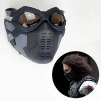 barnes glass - Captain America Winter Soldier Cosplay Mask Glass James Buchanan Bucky Barnes Cosplay Accessories Helmet Glass