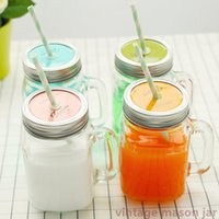 Wholesale Summer Ice cream Fruit Installed Cold Drink Infusion Bottle To Drink Cute Water Bottles Mason Jar Mug Jarras Home Camping use