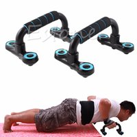 Wholesale B39 xPush Up Stands Wooder Type Foam Wrap Pushup Exercise Home Gym Workout Fitness