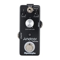 Wholesale Andoer TC Distortion Guitar Effect Pedal True Bypass Myomorpha Effect Modes Durable Guitarra Effect Compact Guitar Parts