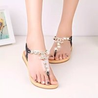 Wholesale 2016 summer styles women sandals female channel rhinestone comfortable flats flip gladiator sandals party wedding