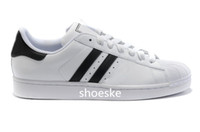 shell sandal - Hot salesadidas Superstar S Man and Women shoes Shell head sandals Couple of sneakers Skate sneakers white Black gold tag