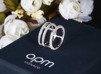 Wholesale Sterling Silver Wedding Engagement Ring CZ Diamond APM MONACO Rings Women s Jewelry