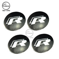 Wholesale 56 mm D Car Badge Wheel Center Hub Cap Sticker Durable Logo Brand Emblem Car Accessory Anti Fade Wheel Decoration Fit For RLINE