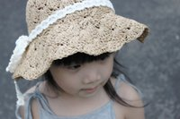 baby outdoor gear - Free DHL Pretty Handmade Color Lace Hat Children Cap Shell Soft Straw Hat Girl Baby Hat Sun Shade Outdoor Gear K17E