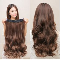 average hand temperature - Long curly hair wig Big wave wig chip curls pills Wig female high temperature hair silk