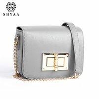 Wholesale SHYAA Turn lock small women bag fresh shoulder bag women messenger bag summer new Korean fashion chain handbag hot selling