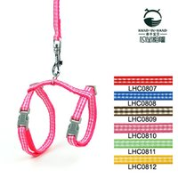 Wholesale Hot Selling High Quality Checkers Print Pet Cat Harness Leash Set cm