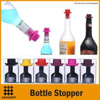 Silicone beer bottling equipment - Bar Tools Equipment Wine Stoppers Silicone Preservation Closures Creative Beer Wine Lid Beverage Closures Wine Bottle Stoppers