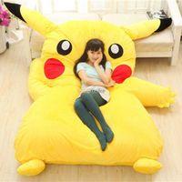 Wholesale Fancytrader Pikachu Bed Tatami Sofa Super Cute New cm X cm Soft Huge Carpet Mattess FT50334