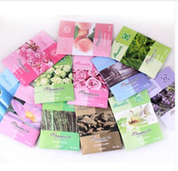 Wholesale 100 Pack Aromatherapy Natural Smell Incense Wardrobe Sachet Air Fresh Scent Bag Perfume Vanilla Roselily Lavender