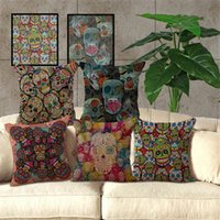 Wholesale 1x Cushion Cover Case Pillow Sugar Skull Home Mexican Furnishings Colorful Quirky Cool Multiple Designs x435mm